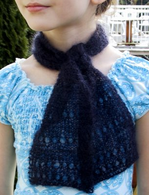 Navy Airy Scarf