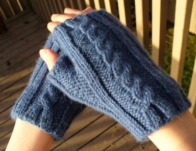 Rib and Cable Mitts