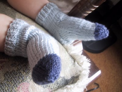 More Two-Needle Baby Socks