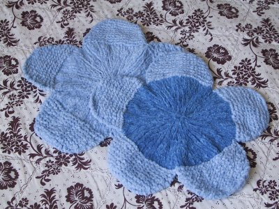 Blue Reverse Bloom Washcloths