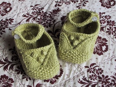 Lace and Bobble Booties